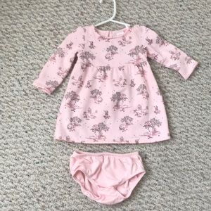 Gymboree Pink Dress with diaper cover